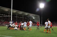The new AMI Stadium at Addington made the Crusader's surplus possible. Photo / NZPA