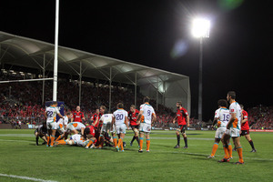 The new AMI Stadium at Addington made the Crusader's surplus possible. Photo / NZPA