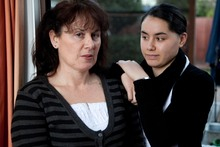 Denise Clarke, and her daughter Jenna, at their Christchurch home in 2009. Photo / Simon Baker