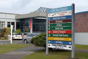 Grey Base Hospital and Emergency entrance, Greymouth, West Coast. Photo / File