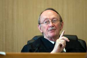 Justice Russell Callander sent four defendants back to the cells in the interest of public safety. Photo / NZPA