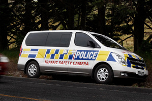 A new police speed camera van on State Highway 1. Photo / John Stone