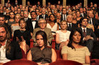Woody Allen (with glasses) plays a retired opera impresario in his latest film. Photo / Supplied