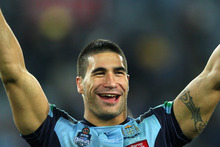 Under the new rule James Tamou, who moved with his family to Australia when he was 13, would have been ineligible for Origin selection. Photo / Getty Images.