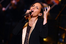 Alicia Keys performs at the Dolby Theatre in California. Photo/AP