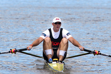 Mahe Drysdale competiting in the Billy Webb Challenge. Photo / Wanganui Chronicle