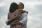 This photo of Barack Obama hugging his wife Michelle has become the most retweeted tweet ever. Photo / Twitter/@BarackObama