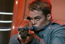 Chris Pine as Captain Kirk in the new Star Trek Into Darkness trailer.