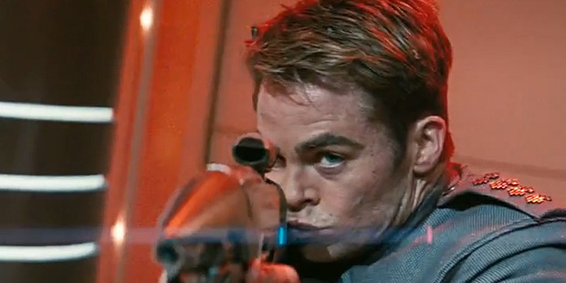 Loading Chris Pine as Captain Kirk in the new Star Trek Into Darkness trailer.