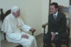 Pope Benedict XVI on Saturday pardoned his former butler Paolo Gabriele, who was sentenced to 18 months in jail for leaking secret papal memos, but banished him from the Vatican.