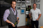 An approach by Invivo's Tim Lightbourne (above left) and Rob Cameron to TV host Graham Norton (right), who likes New Zealand wines, got Invivo onto his BBC prime time show as the