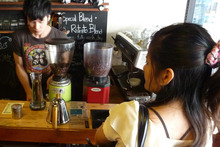 Most Thai people prefer iced coffee but cafes like Ristr8to are quickly gaining a following. Photo / Supplied