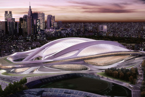 An artist's impression of the Tokyo stadium to be open in time for the 2019 Rugby World Cup.