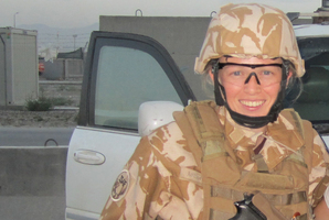Navy Lieutenant Commander Kelly Ashton-Kells on deployment in Kabul. Photo / Supplied