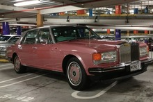 Not only a tacky coloured Rolls-Royce, but the taking of three car park spots. Photo / Supplied