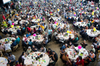 Auckland City Mission's Christmas lunch is the biggest in the country. Photo / Richard Robinson