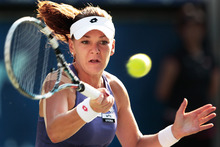 At just 1.72m and 56kg, Agnieszka Radwanska of Poland has to rely on clever tactics to outwit her larger opponents. Photo / Getty