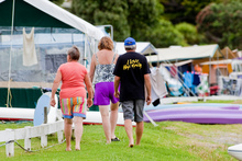 Campsites such as Mangawhai Heads Holiday Park have a busy peak season, meaning neighbouring campers need to be considerate. Photo / Neville Marriner