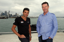 Terenzo Bozzone and Ports of Auckland CEO Tony Gibson are excited about the Auckland waterfront triathlon. Photo / Michael Bradley