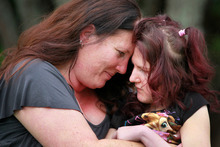 Donna Carpenter is getting only a third of the money ACC would pay if she and daughter Paige Laming, who has cerebral palsy, were still in NZ. Photo / Natalie Slade