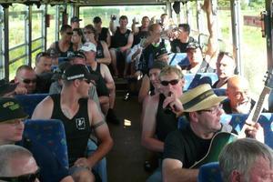 Participants on the man-cave tour.