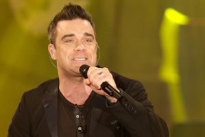 British singer Robbie Williams features on the Hillsborough charity single that has topped the UK chart. Photo / AP