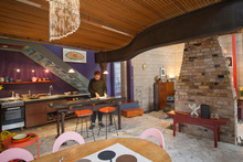 A combination of quirky architecture with artistic decor to create the creative's dream house. Photo / Ted Baghurst