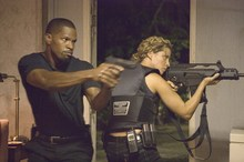 Jamie Foxx and Elizabeth Rodiguez in the 2006 film Miami Vice. Photo / Supplied