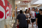 Boxing Day shoppers spent $120 million in two million transactions, according to Paymark figures. Photo / Kellie Blizard