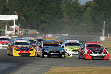 The V8 SuperTourers have got up and running from scratch in only two years in New Zealand and have dramatically raised the profile of V8 racing. Photo / Geoff Ridder