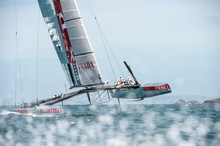 Luna Rossa was being watched in trials. Photo / Chris Cameron