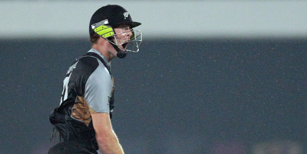"Martin Guptill says his maiden T20 century, which secured the second match, stands as a ""very special moment"". Photo / AP"