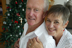 Dave Murray and Shirley Pidgeon stunned family and friends by exchanging vows on Christmas day. Photo / John Stone