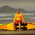 Waimarama Surf Life Saving Club patrol captain, Kim Nilsson, pictured on the famous Hawkes Bay beach. He has been associated with the club and the beach for more than 30 years. Photo / Alan Gibson