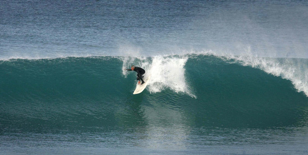 David Timbs likens surfing at Wainui to a spiritual experience. Wainui's world-class waves have helped produce some of New Zealand's top surfers and are the reason so many boardriders have made Gisborne their home. Photo / Alan Gibson