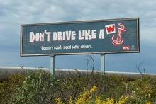 A memorable billboard. Photo / Supplied