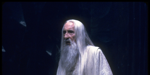 Sir Christopher Lee plays character Saruman. Photo / Supplied