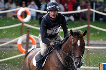 Sir Mark Todd in action for New Zealand during the London Olympic Games. Photo / Mark Mitchell