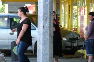 Pedestrians and shoppers at the Eketahuna Four Square store had a lucky escape after a car crashed into the building. Photo / Supplied