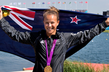 Olympic gold medalist Lisa Carrington is a finalist for sportswoman of the year. Photo / Brett Phibbs