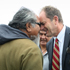 Labour leader David Shearer on a walkabout through the Te Tii Marae grounds. Photo / Natalie Slade