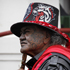 A member of the Mongrel Mob at Te Tii Marae. Photo / Natalie Slade