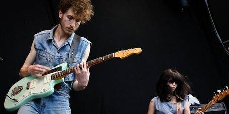 Yuck perform at Laneway Festival. Photo / Milana Radojcic