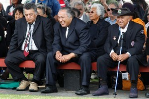 Nga Puhi elders at Te Tii Marae the day before Waitangi Day. Photo / Natalie Slade