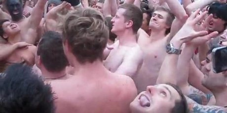 Kiwi pub crawlers do a spirited haka. Photo / Supplied
