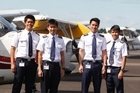 Danial Johari, Su Khe Tay, De Li Tan and Renhao Teo are Singaporean cadets in training at the centre. Photo / Christine Cornege