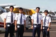 Danial Johari, Su Khe Tay, De Li Tan and Renhao Teo are Singaporean cadets in training at the centre. Photo / Christine Cornege