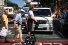 Michelle Kennedy says the Segway attracts attention and is good for marketing. Photo / Greg Bowker 