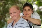 John Pinder's partner Jufan Zhang says she is hopeful she can bring him home 'before he dies'. Photo / Richard Robinson