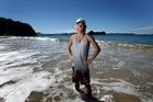 Rhys Cochrane, 19, on the beach at Hahei. Photo / Alan Gibson